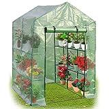Yongtaifeng Serre de Jardin 4 Étages 143x73x195cm Maison Tente de Plante Serre pour tomates en Vert