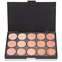 TOOGOO (R) paleta correctores en crema de 15 colores para Maquillaje de Cara Profesional