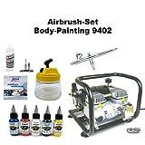 Komplett Airbrush Set Body-Painting 9402 Evolution Silverline 2in1 + Sparmax AC-500 Kompressor