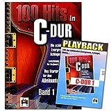 100 Hits in C-Dur 1 - schönsten Evergreens, Schlager, Oldies - zweistimmig leicht gesetzt für Keyboard, Klavier, Gitarre - Bosworth BOE7696 - Songbook mit 5 Playback CD's (in Original-Tonart)