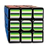 Aro Pride Stripes (with White)_1011 3x3 Magic Speed Cube Smooth Speed Magic Rubik Cube Puzzles Toys