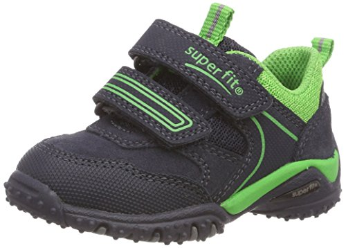 Superfit Baby Jungen SPORT4 Mini Sneaker, Blau (Blau/Grün 80), 24 EU