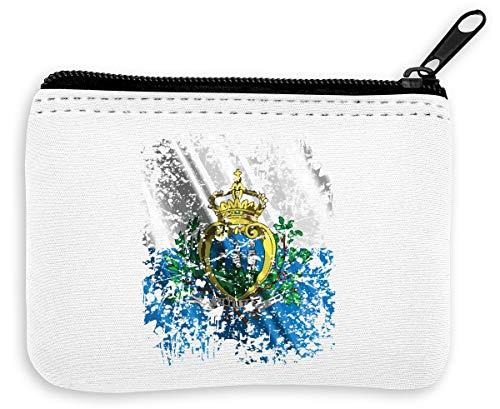 San Marino Europe San Marino Country Series Nationality Flag Nice to Portefeuille à Fermeture à glissiè