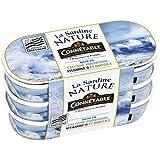 Connetable sardine nature lot de 3 x 1/13 39g - ( Prix Unitaire ) - Envoi Rapide Et Soignée