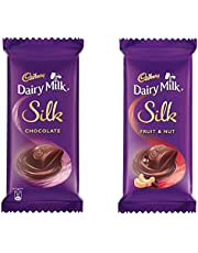 Cadbury Dairy Milk Silk, 574 gm (2x150g Silk Chocolate Bar, 2x137g Silk Fruit & Nuts)