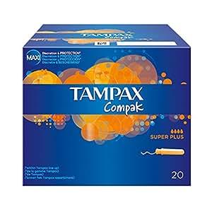 Tampax Compak - Super Plus - 24 Tampons avec Applicateur en Plastique