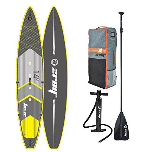 z-ray R214'Stand Up Paddle Board Paket mit Pumpe/Paddel/Rucksack & Schließen Gürtel, 15,2cm
