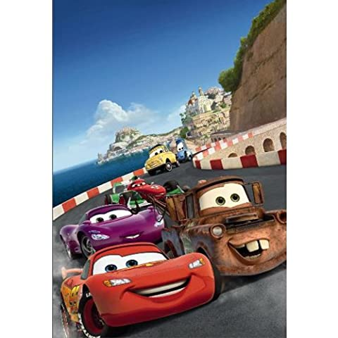 Disney Fototapete CARS ITALY, 127x184cm, 1-teilig, Cartoon Autorennen