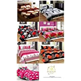 Combo Pack Of Double Bedsheet, Combo Set Of 7 Bedsheet And 14 Pillow Covers!Made From Premium Glace Cotton With High Digital Printing -Size(90 By 90 Inchs) By RS Quality