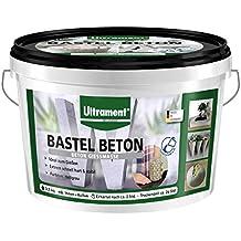 Ultrament Bastel Beton, Bastelbeton, Kreativbeton, Gießbeton, Beton Gießmasse, extrem schnell trocken, hellgrau, 3,5kg
