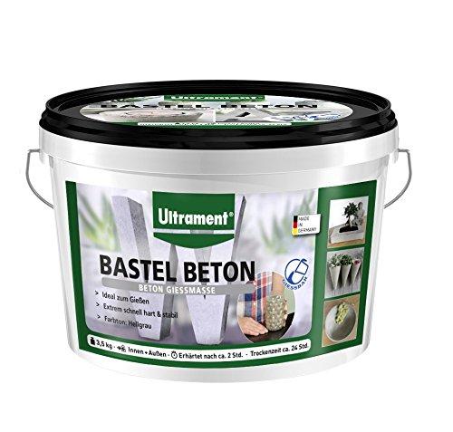 Ultrament Bastel-Beton, hochwertiger Gießbeton perfekt für kreative Deko Gestaltungen, 3,5 kg
