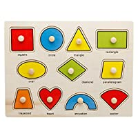 OneCreation Wooden Puzzle Cognitive Board Hand Grasping Board 1-6 Years Old Puzzle Toy