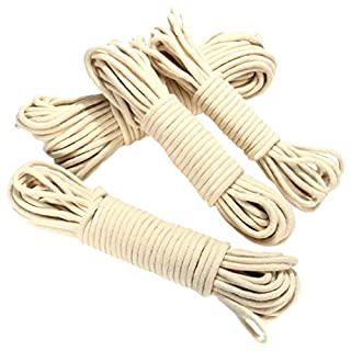 SODIAL(R) 20M Multi-function Traditional Washing Clothes Pulley Line Rope Dia. 4mm