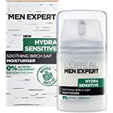 L'Oreal Men Expert Hydra Sensitive Moisturiser 50ml Soothing Birch SAP Moisturiser