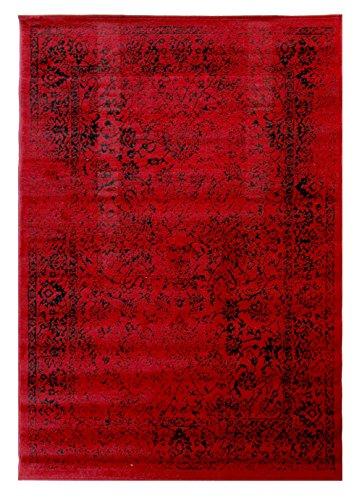 - Lord of Rugs --Klassische Vintage Antik Stil Rot Teppich in verschiedenen Größen Teppich, rot, 120x170cm (4'x5'6'') - Antik-stil Teppich