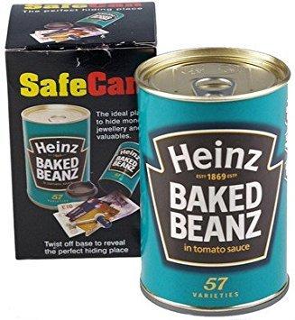 Sterling Locks Seguro Puede Heinz Baked Beans Secreto Seguridad en el hogar Hide Away Objetos de Valor y Dinero Regalo