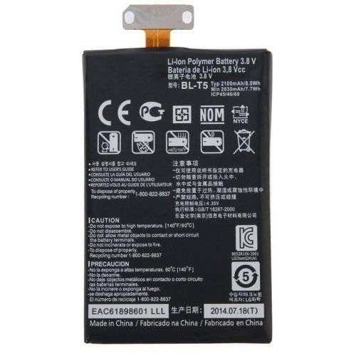 BPX 2100mAh BL-T5 Battery for Google Nexus 4 E960 LG Optimus G E975 E973 E970 F180 LS970 N4 Replacement Part