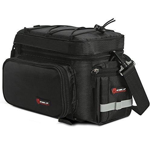 Outdoor MTB Fahrrad 26L Gepäckträgertasche Bag Wasserdicht Rücksitz Tragetasche Schulterbeutel Kameratasche Mit Regenabdeckung (Schwarz)