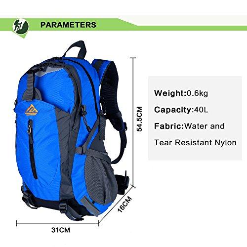 Imagen de naturefun 40l  ligera daypack resistente al agua bolsa de trekking para camping, senderismo, escalada azul  alternativa