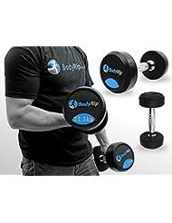 BodyRip Feste Gewichte Gewicht Stärke Lifting Hantel Gym Set 2,5kg-30kg