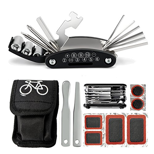 Multitool Fahrrad Reparatur Set, SOKLIT 16 in 1 Fahrrad Werkzeug Reparaturset Multifunktionswerkzeug