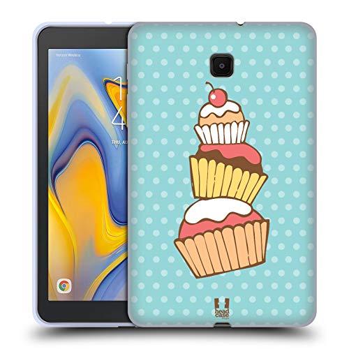Head Case Designs Stack Cupcakes Soft Gel Huelle kompatibel mit Galaxy Tab A 8.0 (2018) -