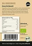 Wohltuer Farine de noix de coco Bio | sans gluten, sans cholestérol riche en nutriments | aliment pour régime faible en glucides | végétarien et végétalien [ aliment polyvalent de qualité biologique testée.