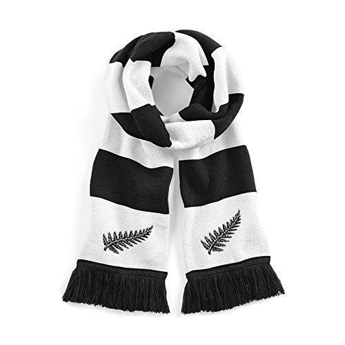 Retro New Zealand Nationale Rugby traditionell Schal mit eingestickten Logo