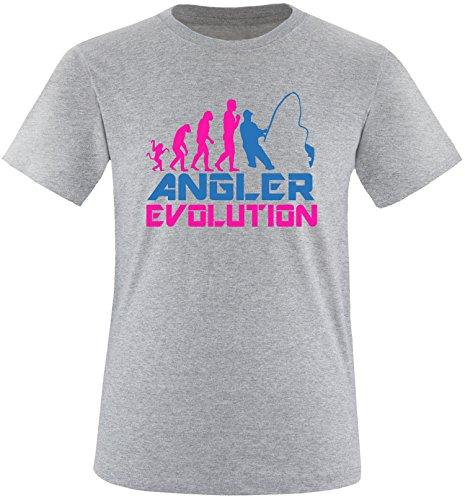 EZYshirt® Angler Evolution Herren Rundhals T-Shirt Grau/Pink/Blau