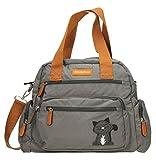 Swankyswans, Kempton, borsa da giorno, da donna, a tracolla, con cerniere, grigio (Dark Grey), Taglia unica