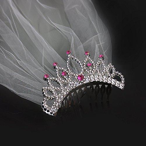 Schöne Kostüm Kind Braut - Oblique Unique® Haarkamm mit Schleier