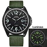Herrenuhren,Gaddrt Militär Herren Quarz Army Watch schwarzes Zifferblatt Datum Luxus Sport Armbanduhr (C)