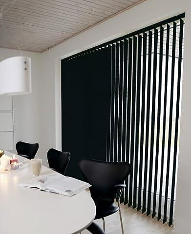 Line - Store à lamelles verticales - coloris: Noir - dimensions. 150X250cm - Largeur des lamelles: 89mm