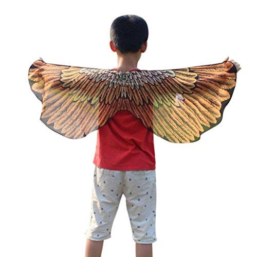 Overdose Kind Kinder Jungen Mädchen Karneval Kostüm Faschingskostüme Schmetterling Flügel Kostüm Butterfly Wing Cape Kimono Schal Cape Tuch (Butterfly Kimono)