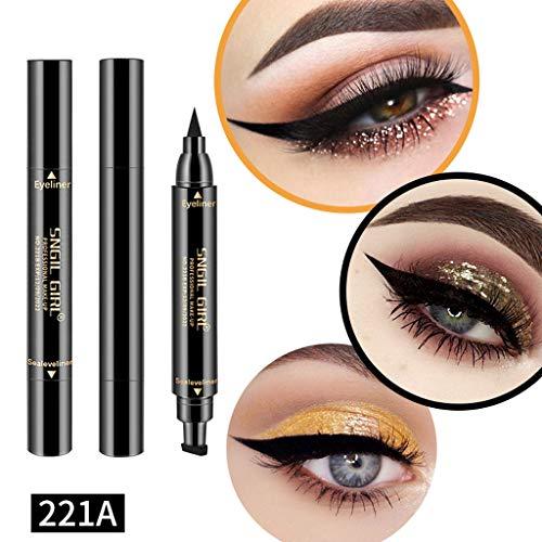 Eyeliner Waterproof, Eyeliner Noir, Eyeliner, Winged Eyeliner Stamp, Liquid Eyeliner, Yeux Liner, Maquillage Imperméable Cosmétiques Eye Liner Crayon Liquide Noir (A)