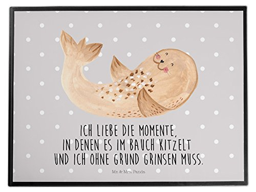 Mr. & Mrs. Panda Schreibtischunterlage Robbe liegend - 100% handmade in Norddeutschland -...