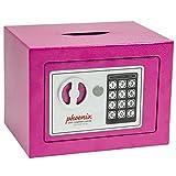Phoenix SS0721EPD Acero Rosa - Caja fuerte (Llave plana, Acero, Rosa, 230 mm, 170 mm, 170 mm)