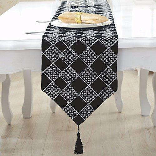 Preisvergleich Produktbild OLQMY-Tisch-Dekoration Einfache moderne Tischfahne, Mode, hochwertige kariertes Flanellhemd, Couchtisch Tuch, Tisch Wohnzimmer Tischdecke, Bett Handtuch Bett Flagge,C,28 * 210CM