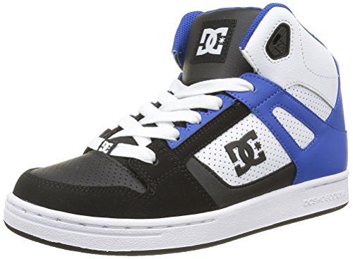 dc-shoes-rebound-zapatillas-altas-para-ninos-negro-black-white-blue-38-eu