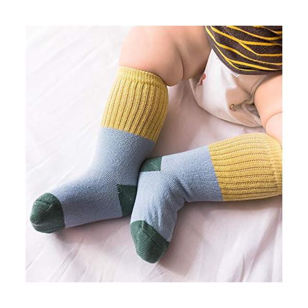 Ceguimos - Pack de 6 pares Calcetines Largos para Bebé Niño Niña 4
