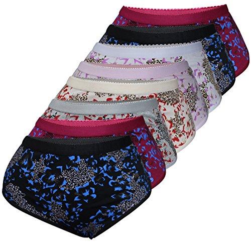 PiriModa 8er Pack Damen Baumwolle Unterhosen Übergrößen Spitze Schöne Modelle Größe 40-56 (52/54, Modell 3)