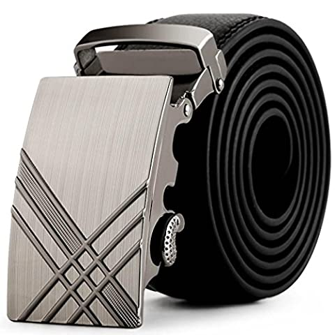 Koly Men Faux Leather Sliding Buckle Belts Waist Strap Belt Waistband