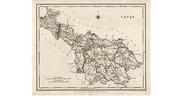 Map Of Ireland Cavan.County Cavan Antique Map For Lewis By Creighton Dower Ireland