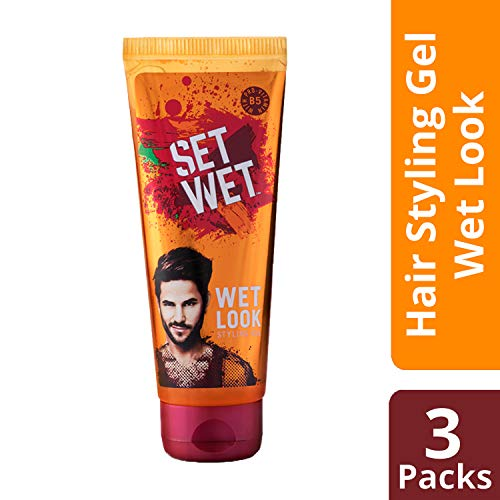 Set Wet Look Wet Hair Gel, 100ml (Pack of 3) (Ship from India)