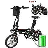 Ultrey E-Bike Klapprad 20 Zoll Elektrofahrrad klappfahrrad 36V 8Ah Lithium-Batterie, Leicht und Praktisch (14 Zoll)