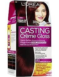 L'Oréal Paris Casting Creme Gloss Glossy Blacks Pflege-Haarfarbe, 360 rotschwarz