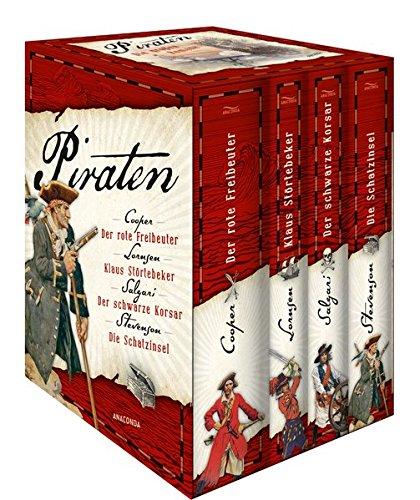 Piraten - Die großen Romane: Der rote Freibeuter - Klaus Störtebeker - Der schwarze Korsar - Die Schatzinsel (Karibik-boys)