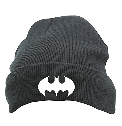 ütze Mütze Beanie mit Thinsulate, Modell BATMAN, Schwarz (Batman Beanie)