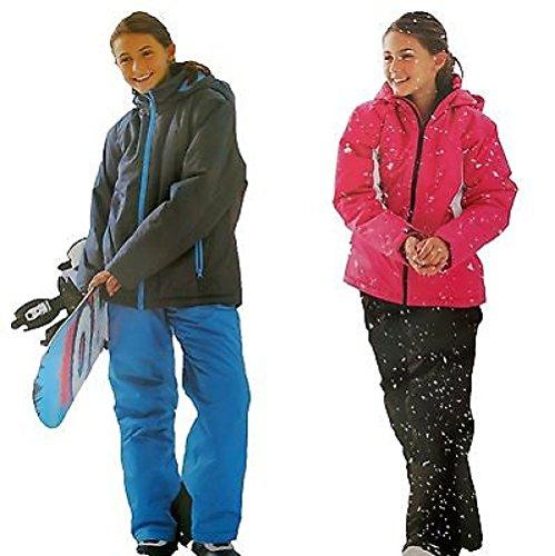 ZEARO Mädchen Kinder Skianzug Schneeanzug Skijacke Skihosemit Kaputzen Winter Jacke und Hose