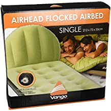 Vango Airhead colchón Hinchable, Unisex, Airhead Single Flocked, ...